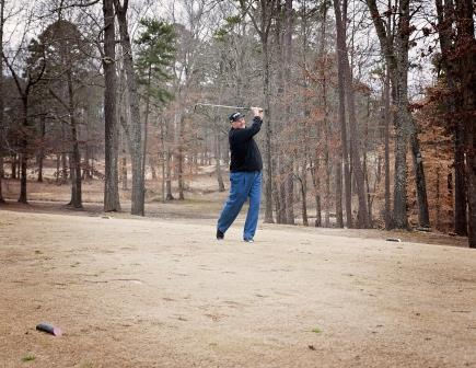 Ronnie Armstrong Playing Golf