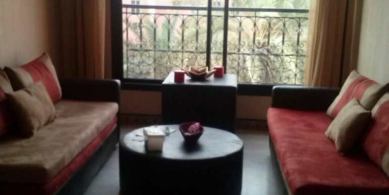 location meublé d'un appartement à gueliz marrakech