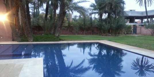 location villa de luxe à la palmeraie marrakech