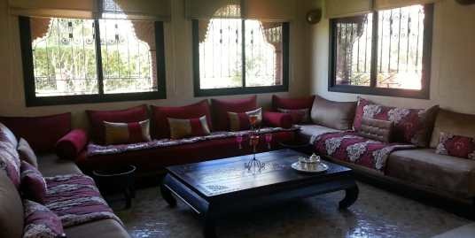 location villa meublé sur route de fes marrakech