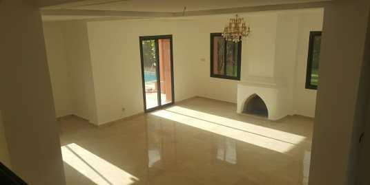 Villa à louer vide à la palmeraie marrakech