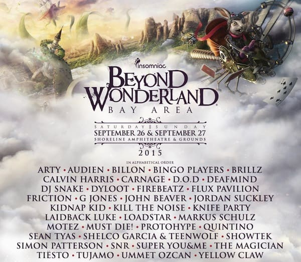 Beyond Wonderland 2015 Lineup Bay Area