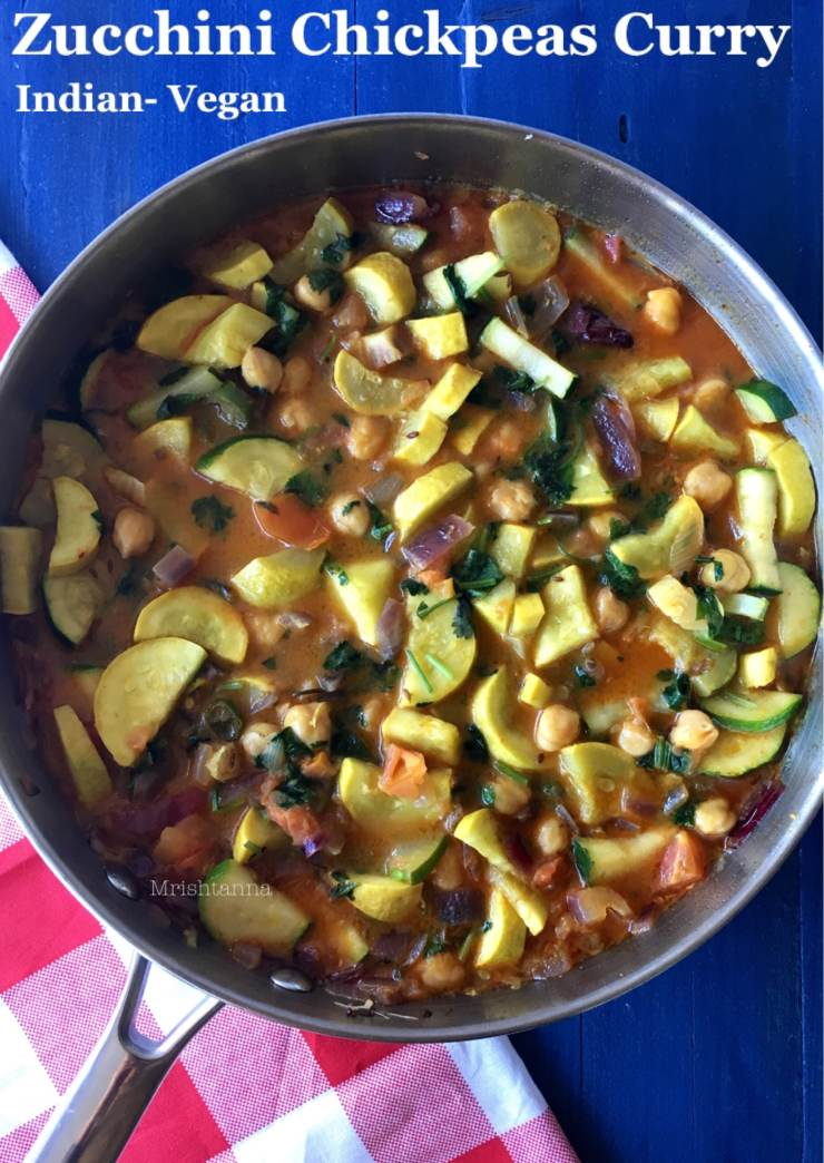 Healthy Zucchini Chickpeas Curry
