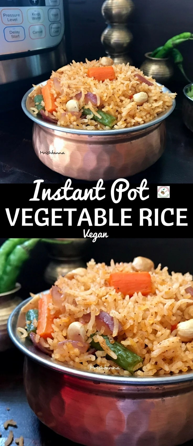 Instant Pot Vegetable Rice