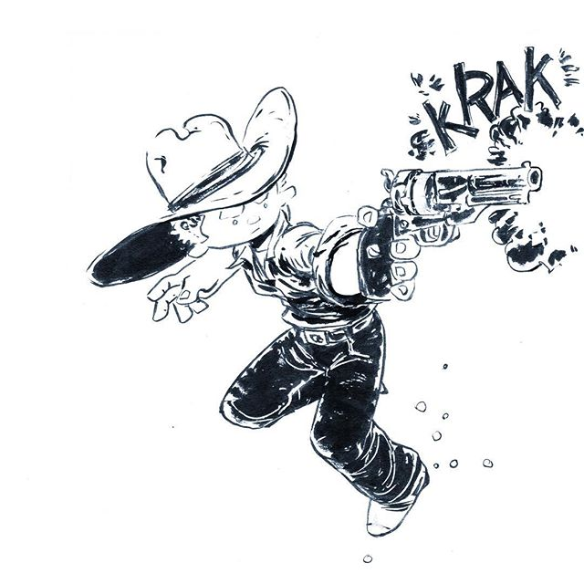 Cowboy. Original art available at http://rndm.us/jms I have others originals there too. Commissions available as well. . .