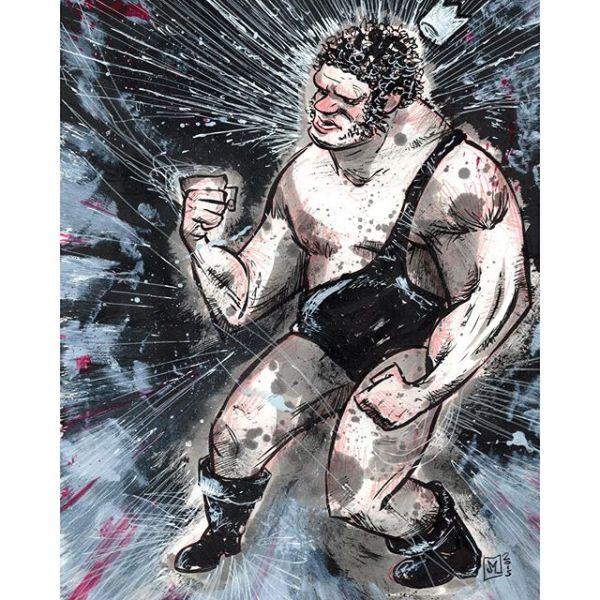 King of Wrestling: an Andre the Giant commission. http://rndm.us/jms # # Drawn using @artemscribendi's awesome pen holder and @pentelofamerica # #