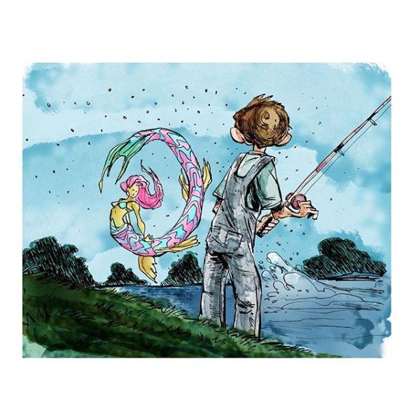 Practicing coloring. Fish stories http://rndm.us/jms # # Drawn using @artemscribendi's awesome pen holder and @pentelofamerica # #