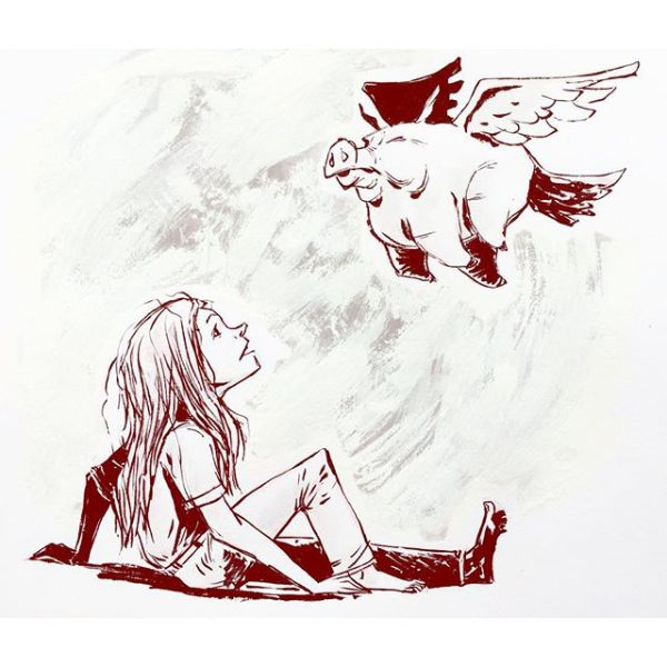 Sometimes it feels like I will better at drawing females when pigs fly (self sufficiently). Originals available: http://rndm.us/jms (don't see something? Ask.) # # Drawn using @kuretakezig_usa @pentelofamerica @staedtlermars @winsornewton # #