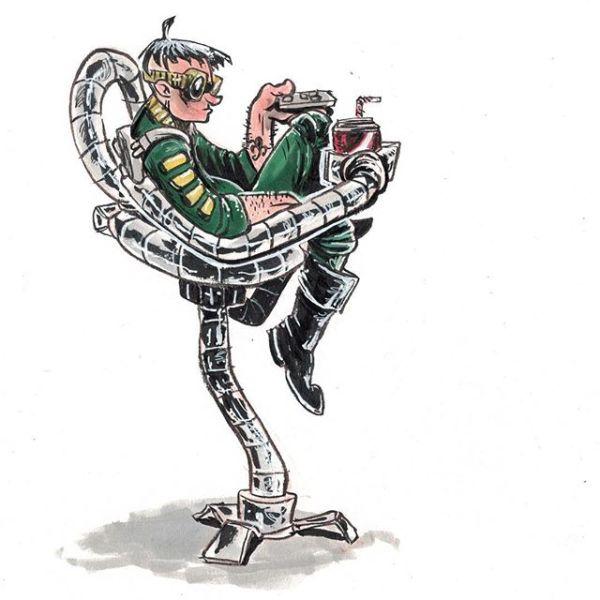Bored Doc Ock. Original available http://rndm.us/jms # # Drawn using @kuretakezig_usa @pentelofamerica @staedtlermars @copicmarker @winsornewton # #