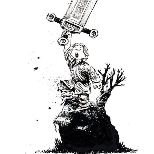 King is Born. It's not the boy who holds the sword, but the sword upholds the boy. # # @kuretakezig_usa @pentelofamerica @staedtlermars # # Don't forget yesterday was Webcomic Wednesday http://www.tomynjon.com # #