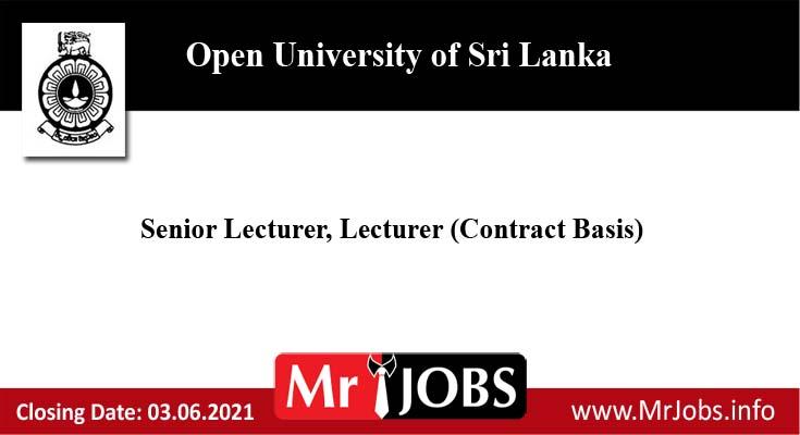 Open University of Sri Lanka Vacancies