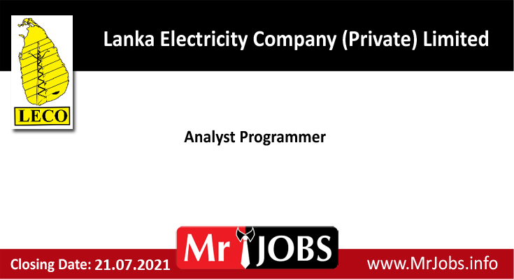 Lanka Electricity Company (Private) Limited Vacancies