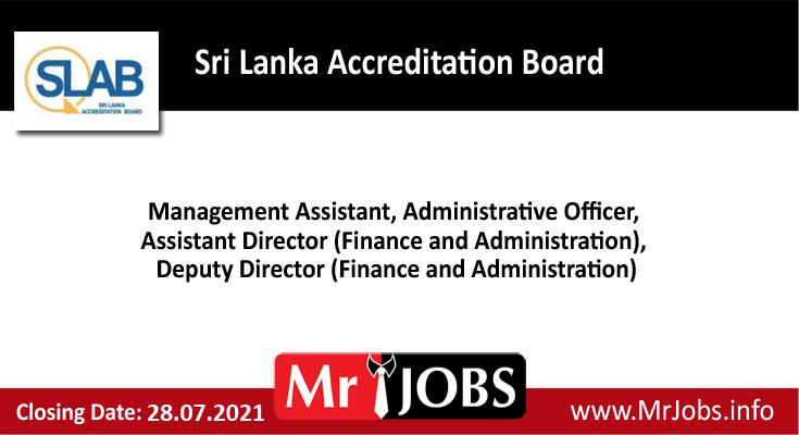 Sri Lanka Accreditation Board Vacancies
