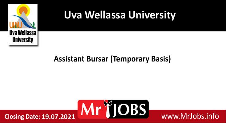 Uva Wellassa University Vacancies