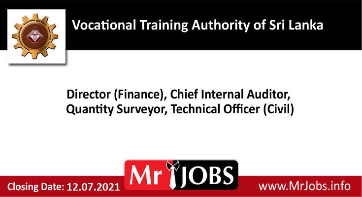 Vocational Training Authority of Sri Lanka Vacancies