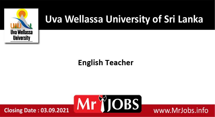 English Teacher Vacancies – Uva Wellassa University