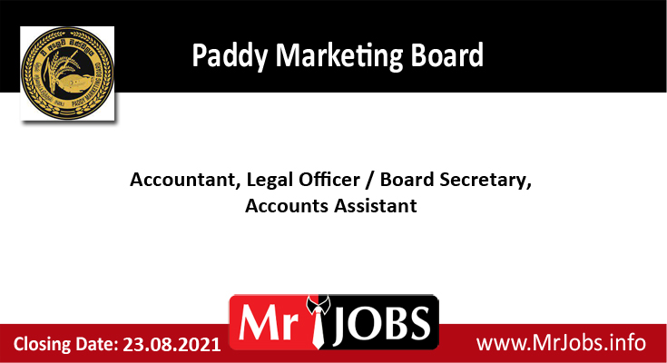 Paddy Marketing Board Vacancies