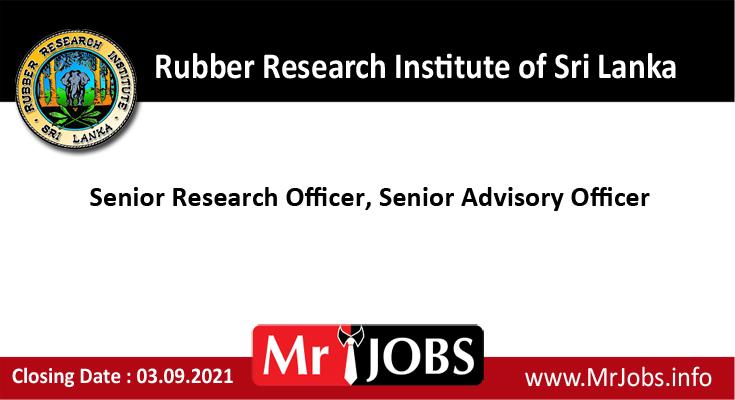 Rubber Research Institute of Sri Lanka Vacancies