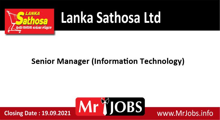Lanka Sathosa Ltd Vacancies