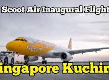 Scoot Air Inaugural Flight Singapore Kuching