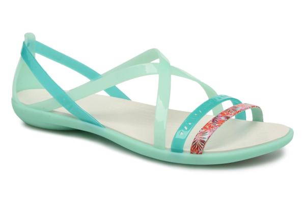 crocs isabella cut graphic strappy sandal