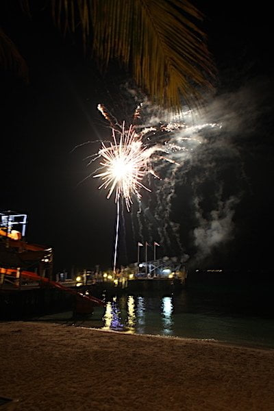 Fireworks at Rawa Island resorts
