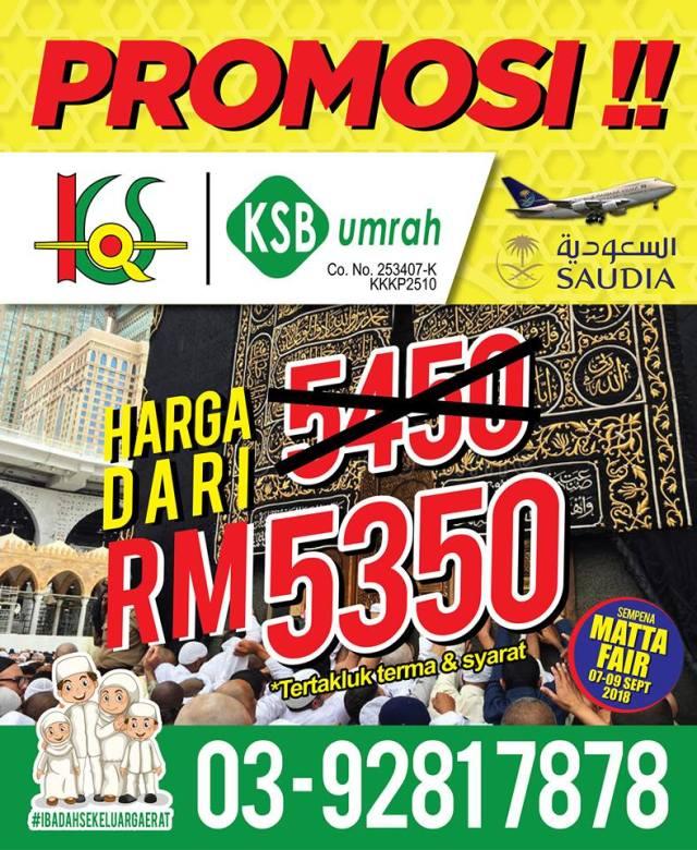 pakej umrah promosi matta fair 2018 ksb travel 01 copy