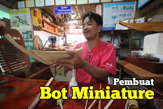 Long Tail Boat Miniature Di Krabi Hua Thong