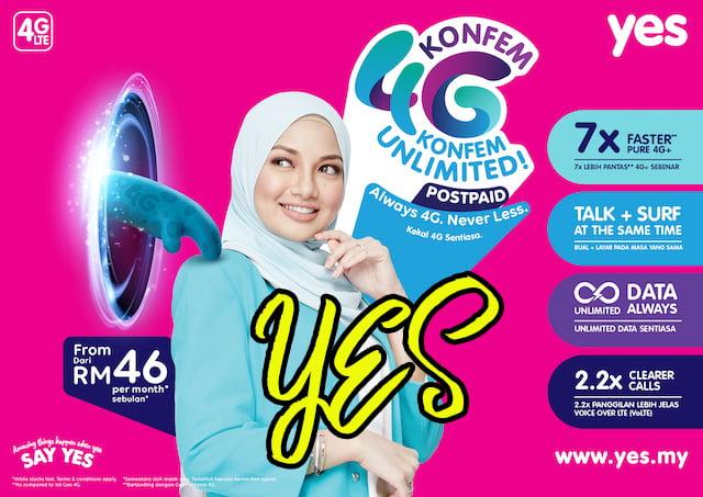 YES KONFEM 4G KONFEM Unlimited Postpaid