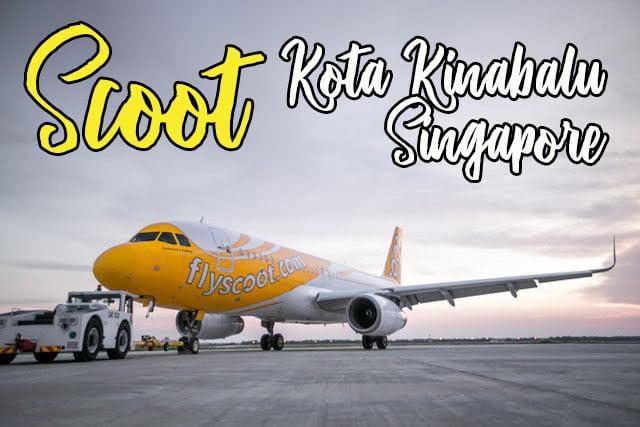 scoot airlines kota kinabalu singapor
