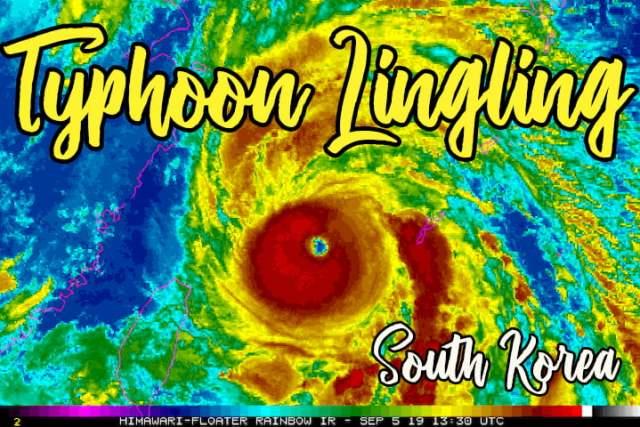 Typhoon Lingling September 2019 Korea 01