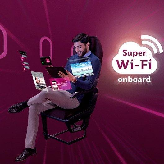 Qatar Airways Dilengkapi Wi-Fi Berkelajuan Tinggi 1