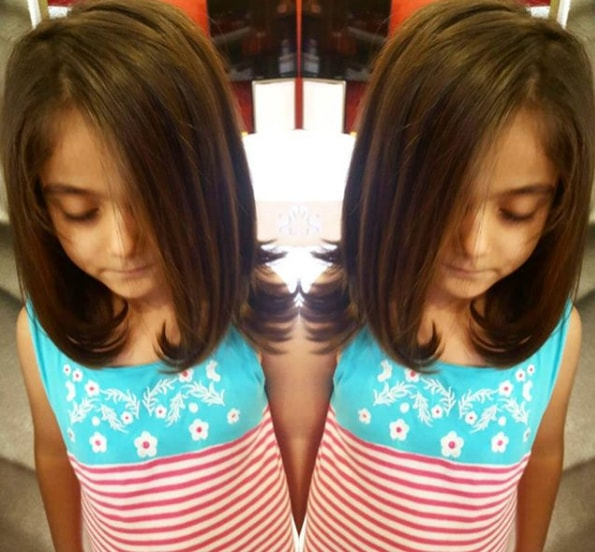 Girl Long Bob Haircut Jpg
