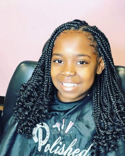 Braided Hairstyle With Kinky