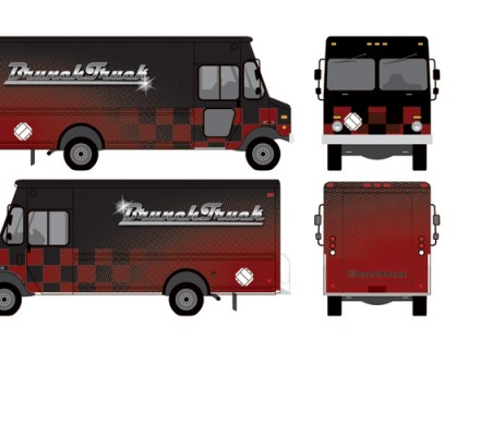 This is the Custom Food Truck Wrapped