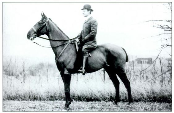 """IF you need to know one person, the man is Charles Pfizer on his horse Duke of York in 1902 - The Mr. Local History Project believes that he is the """"Father of the Race""""."""
