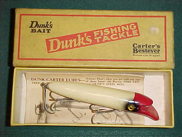 Dunks Carters Antique Fishing Lures