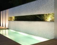 Sichtschutzmauer im Außenbereich
