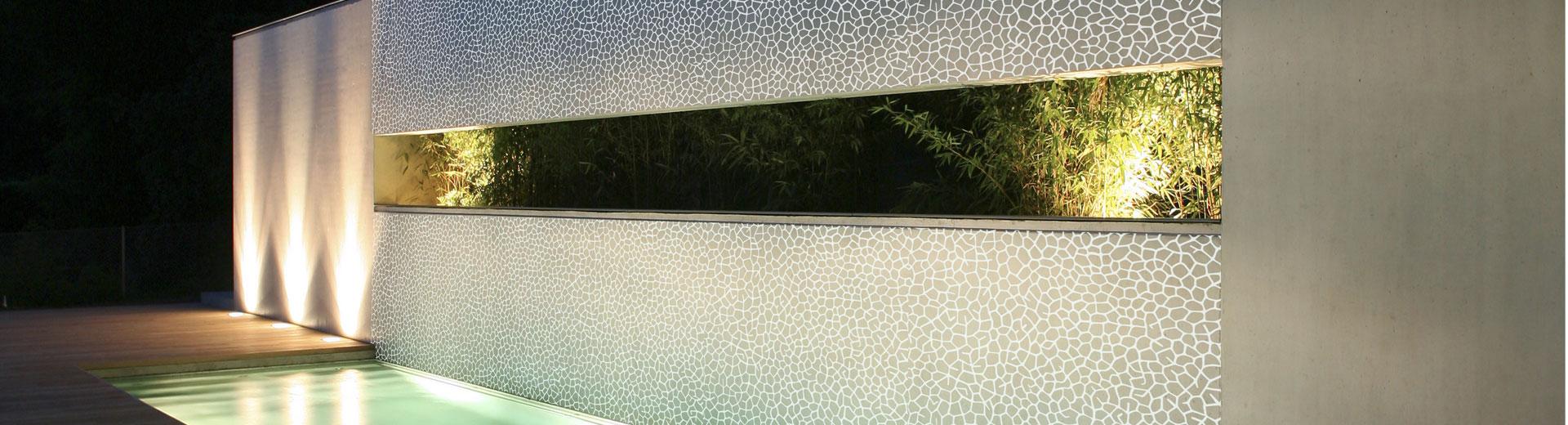 Rubuste, papierlose Keramiktapete für den Innen- und Außenbereich