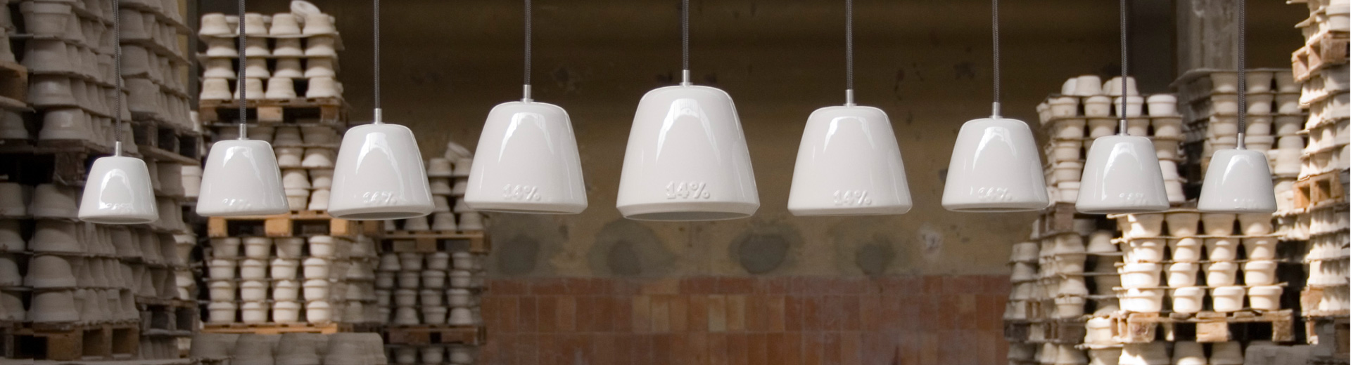 Design-Leuchten aus Keramik