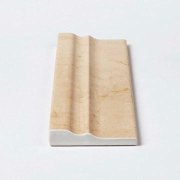 Baukeramik Fliese dreidimensionale Form mit Aufkantung