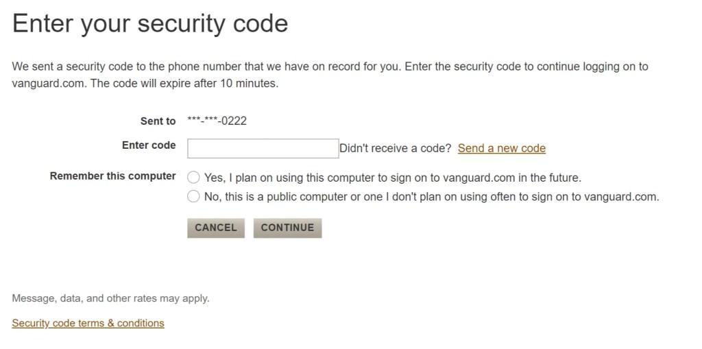 Vanguard security