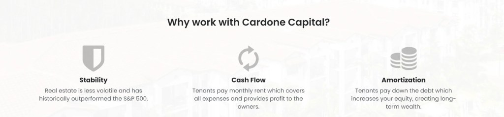 Cardone Capital Distributions
