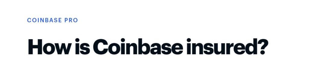 Coinbase Pro - Insurance
