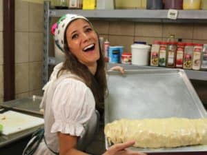 Eden Grinshpan, host of Eden Eats on the Cooking Channel, makes strudel in Tampa