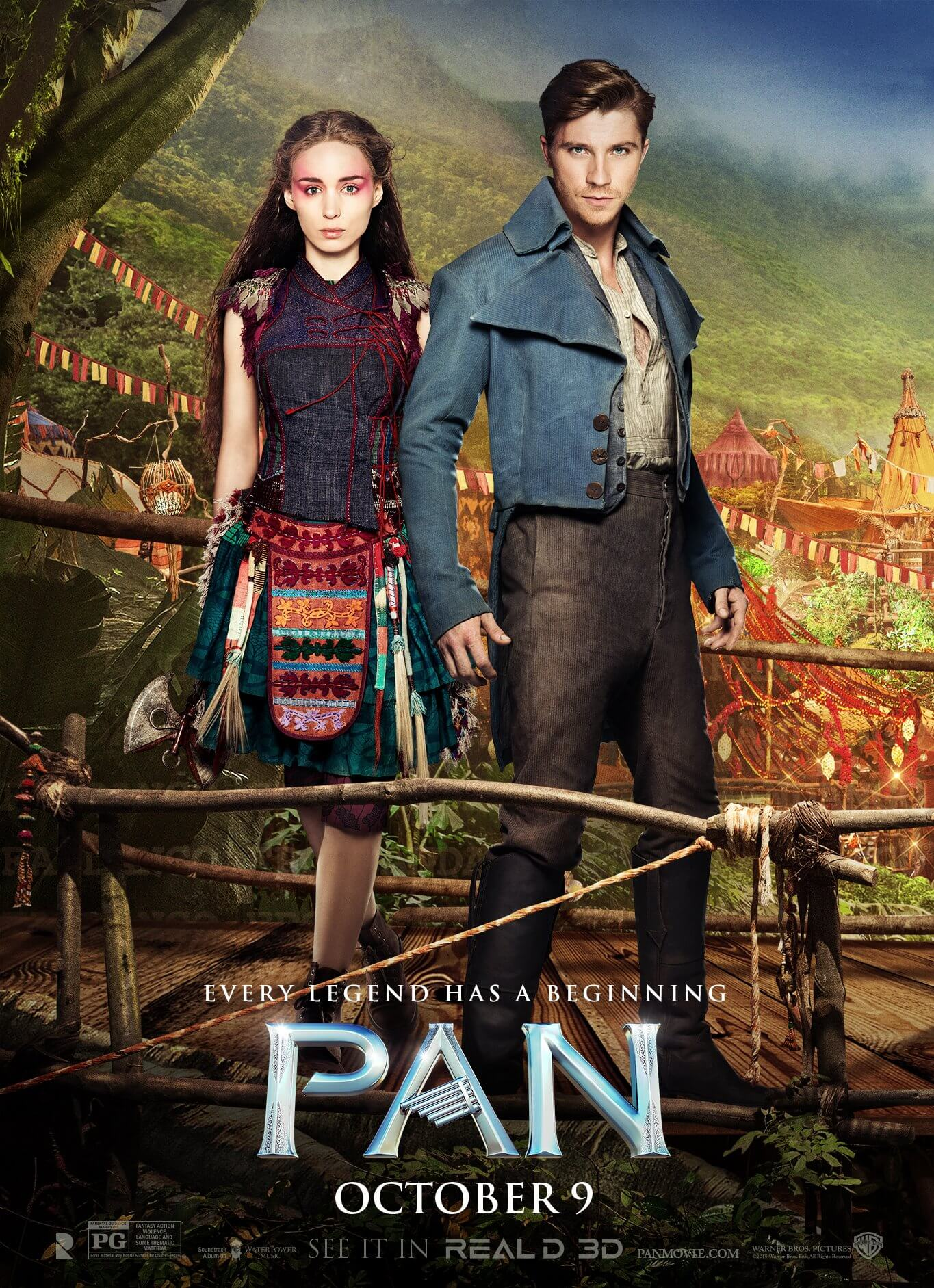 Peter Pan And Tiger Lily Poster