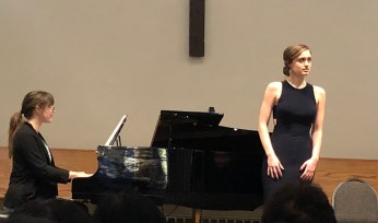 Advanced Vocal winner Elena Howard-Scott with Lisa Rumpel piano