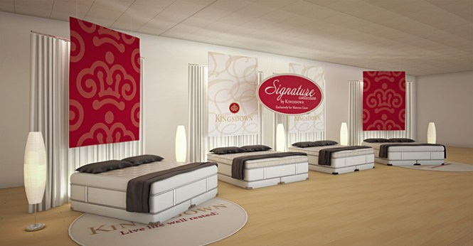 A Rendering Of The 4 Mattress Display Setup Showed Potential Retailers What It Would Look Like In Their