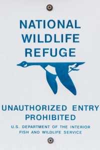 National Wildlife Refuge Sign