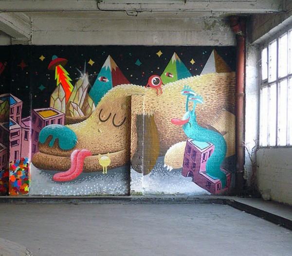 Nicholas Barrome, imaginative street art, graffiti art, street artists, urban murals, urban art, mr pilgrim art.